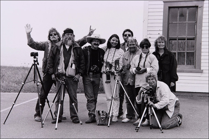 Landscape photography class at the College of the Redwoods, Fort Bragg, CA 1991